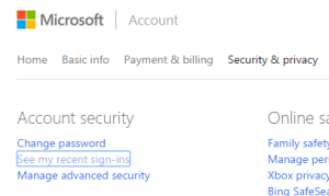 Microsoft's security settings